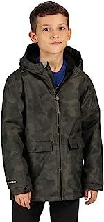 Regatta 儿童 Sarkis 防水压条接缝隔热内衬连帽印花夹克