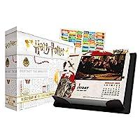 哈利波特 2021 日历,盒子版套装 - 豪华 2021 哈利波特 日间盒装日历,超过 100 张日历贴纸(哈利波特礼物,办公用品)