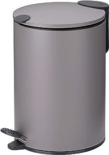 kela Mats 化妆桶,金属,浅灰色,5升