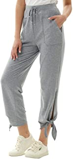 GRACE KARIN 女式直筒库萨尔及踝裤抽绳长裤带口袋
