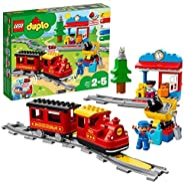 LEGO 乐高 10874 DUPLO Town 蒸汽火车 适合幼儿,灯光和声音,Push&Go电池供电 2-5