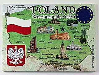 波兰欧盟系列纪念冰箱贴 6.35cm X 8.89cm