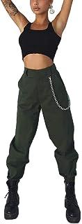 女式慢跑拉链裤休闲宽松嘻哈裤高腰时尚链宽松哈伦裤带口袋