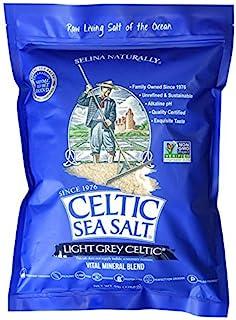 Celtic Sea Salt 袋装海盐,5磅,美味无添加剂可密封,适合烹饪、烘焙和更多,无麸质,未经转基因认证