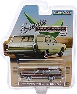 Greenlight 29970-F Estate 四轮车系列 4 - 1980 年水星大马奎斯殖民地公园 - 深色麂皮金属与木纹比例 1:64
