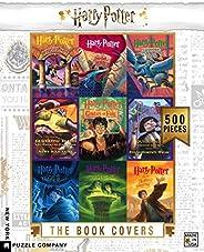 纽约拼图公司 - 哈利波特书籍封面拼贴 - 500 片拼图玩具