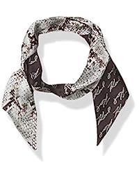 Karl Lagefeld Paris 女士 Karl Lagerfeld 巴黎蛇纹 Twilly * 真丝长方形围巾,芭蕾色,1 码