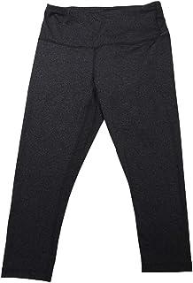 Active Life 女式中号功能吸汗七分裤打底裤,深灰色