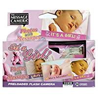 It's a Girl 婴儿淋浴一次性摄像机 35 毫米贴膜喜爱装饰礼物