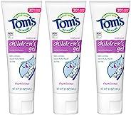 Tom's of Maine 儿童氟化物抗龋齿啫喱牙膏,天然牙膏,水果味,5.1盎司/144克