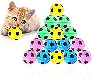 Meric 海绵猫球,1.5 英寸(约 3.5 厘米)软泡沫足球,适合锻炼和互动玩耍,坚固、弹性玩具,适合猫咪,每包 16 个球
