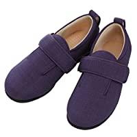 护理鞋 YUYUMIU 双魔术III 施设・院内用 紫色 M 22.0-22.5cm 足围5E 双脚