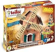 Teifoc 建筑套装 – 真正石头和水泥, 棕色, Solar Windmill