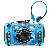 VTech 偉易達 豪華數碼自拍相機 Kidizoom Duo 5.0,帶MP3播放器和耳機,適合兒童,幼兒,男孩和女孩的玩具,3、4、5、6、7、8、9歲,藍色