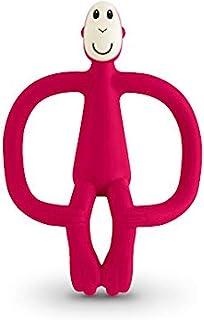 Matchstick Monkey 火柴猴宝宝牙胶,婴儿咬咬安抚磨牙棒软硅胶出牙玩具,宝石红