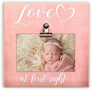 Paishanas Love at First Sight 婴儿相框   超声波相框   怀孕宣告   性别显示  粉色   20.32 厘米 x 20.32 厘米   声波相框