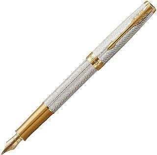 PARKER 派克 Sonnet Fougère 钢笔 纯银18 K g.C. M黑色