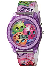 Shopkins 女童石英塑料休閑手表,紫色紫色(型號:KIN4116)