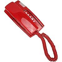 V BESTLIFE 有线电话,大按钮有线座机电话迷你电话,带清晰的声音,适用于家庭、办公室、学校(红色)