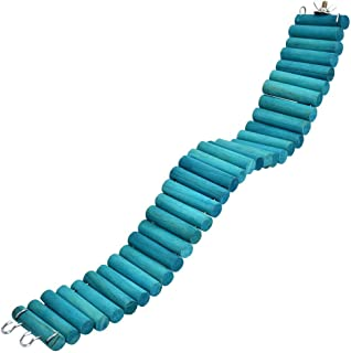Tnfeeon 650 厘米宠物仓鼠鹦鹉爬梯,柔软悬挂悬挂悬挂木制梯子桥鸟玩具