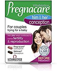 Pregnacare Vitabiotics His and Her 备孕补充剂,60片