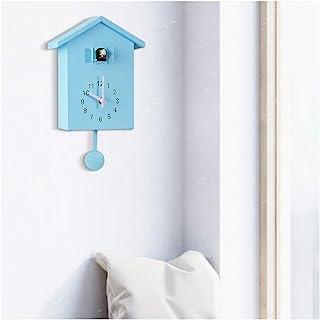 SHISEDECO Cuckoo 挂钟 醒目小鸟屋 可爱鸟屋 家居装饰 简约自然设计(蓝色)