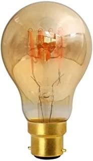 Girard Sudron 716666-LED GLS A60 LED 环形灯丝灯泡,E27(ES爱迪生螺丝盖),暖白色,200流明,可调光,4瓦,琥珀色
