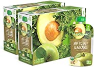 Happy Baby Clearly Crafted Organic Baby Food Stage 2, Apples Kale & Avocados, 4 Ounce, 16 C