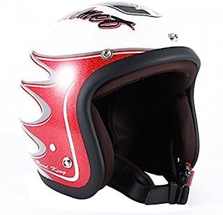 JAM TechJapan 72JAM 摩托车头盔 露脸式 JJ系列 RODKIN(白色) 均码(57〜60cm以下) JJ-08