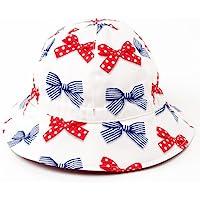 笑脸外出婴儿帽·帽(日本制造)波点和条纹法式丝带(象牙色) B20011