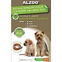 ALZOO Natural Flea and tick 项圈适用于小型犬,幼犬的绒毛项圈,天然防虫项圈,狗狗*颈圈,小狗用颈圈,跳蚤狗项圈 - 2 件装