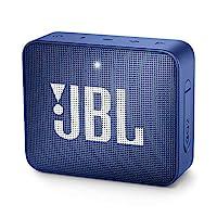 JBL GO 2 防水低音炮/小音箱,免提功能,一次充电可播放5小时,蓝色