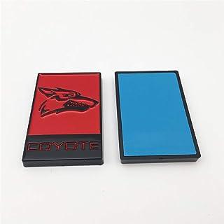 1 件黑色红色喷漆狼头徽标适合汽车侧面或后备箱徽章贴纸贴花