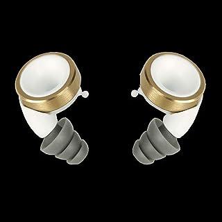 Knops (KNPOP) 白色(knops)噪音切割控制器音量可调耳塞镀金环