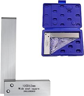 Machinist 方形 90 度直角尺木工工程机械套装精密方形宽底座方形 L 型测试测量工具(4x2.5 英寸)