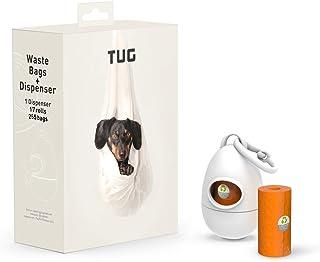 TUG 狗狗垃圾袋分配器,配有垃圾袋 - 皮带附件 白色 255 Bags