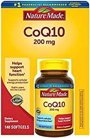 Nature Made CoQ 10 Liquid Softgels Naturally Orange 200 mg Value Size -140CT