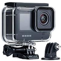 GEPULY 防水外壳适用于 GoPro Hero 9 黑色15 英尺/45 米水下潜水外壳保护套带支架配件适用于 GoPro Hero 9 黑色运动相机
