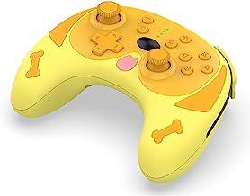 无线控制器,适用于开关/开关 Lite/Switch Pro 控制台,Puppy 无线蓝牙游戏手柄控制器,双电机六轴无线哈巴吉游戏手柄,带唤醒功能