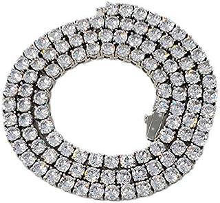 Jwlryfeind 5 毫米镀金黄铜网球项链链带圆形切割 5A 锆石圆形切割宝石男士女士黄金/白金