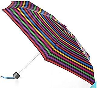 Totes 泰坦微型迷你手动雨伞,采用 Neverwet 技术,条纹,104.14 cm 伞蓬。