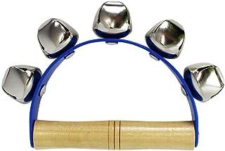 A-Star AP2201 5 铃铛摇雪橇铃带木质手柄,儿童教育打击乐器,紫色