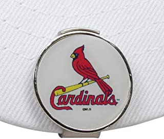 WinCraft MLB 圣路易红雀队 A01557 Clamshell 帽夹,带 2 个球位标