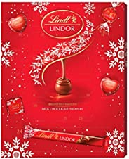 Lindt 瑞士莲 Milk Lovers Advent Calendar 24块牛奶巧克力,牛奶巧克力松露,心形和正方形,含有顺滑的夹心,300克
