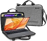 Tomtoc 超薄单肩包 适用于 13 英寸新款 MacBook Air A1932、MacBook Pro A2159 A1989 A1706 A1708、带平板电脑口袋的整理单肩包,可容纳*多 11 英寸的 iPad
