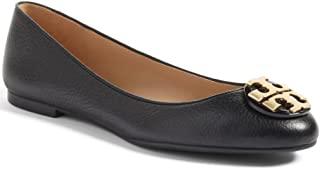 Tory Burch 滚磨皮革Claire 芭蕾平底鞋