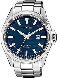 CITIZEN 西铁城 男士 指针 光动能手表 带超钛表带 BM7470-84L