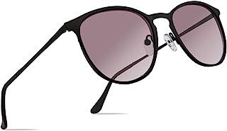 Facewear 经典圆形复古太阳镜 UV400 圆形镜片金属镜框男式女式 FW1006