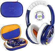 BuddyPhones Cosmos - Dragons 婴儿蓝牙耳机 蓝色 纯色