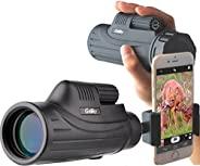 Gosky 单筒望远镜,便携式超高清单筒望远镜,适用于观鸟、体育、旅行、露营、徒步、狩猎和户外活动 10x42 HD